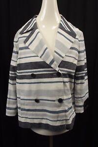 NEW Banana Republic Womens Jacket Coat sz S Small Blazer Suit Blue Linen NWT