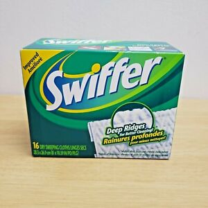 Swiffer Sweeper Dry Pad Refills Unscented 16 Count Sweeping Dusting