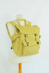 Large Strong Canvas Rucksack/Backpack Laptop Satchel Bag Blue/Yellow/Green/Black