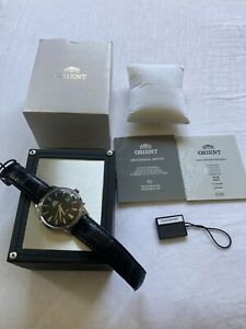 Orient ER24004B Men's Bambino Automatic Black Dial Black Leather Strap