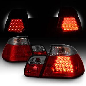 BMW E46 3-Series 2002-2005 4DR RED SMOKE Tail Light LED Signal Brake Pair LH RH
