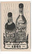 Pubblicità 1950 VLAHOV ZARA CHERRY BRANDY LIQUOR advertising werbung publicitè