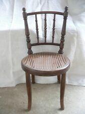 ancienne chaise cannée pour enfant signé FISCHEL 1920