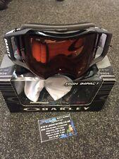 New Oakley Airbrake MX Goggle Jet Black - Prizm Bronze Lens