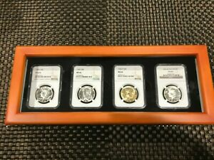 1964 PRESIDENT KENNEDY'S COMPLETE (4) PIECE COMMEMORATIVE 1/2 DOLLARS