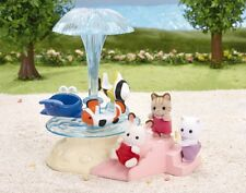 Calico Critters SEASIDE MERRY-GO-ROUND Carousel & Slide Playset  ~NEW~