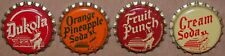 Vintage soda pop bottle caps DUKE baby pictured Collection of 4 different unused