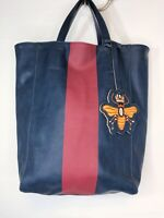 Saks Fifth Avenue Vegan Faux Leather Bee Animal Accessory Charm Tote Bag Purse