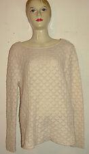Liz Clairborne Lizwear Jeans Women SZ S Long Sleeve Creme Sweater Top Shirt Wool