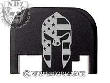 Rear Slide cover plate for Glock 17 19 21 22 23 27 30 34 36 Spartan Helmet Flag