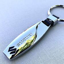 NEW SUZUKI LOGO METAL CHROME KEYCHAIN KEY-CHAIN Key Ring KC023