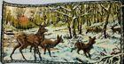 Forest Elk deer Tapestry Carpet Wall Hanging vintage Hunting Cabin Décor