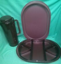 Tupperware HORSD'OEUVRE TRAY & PRELUDIO PITCHER - red
