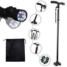 Bastones plegables y bastones para hombres y mujeres con luz LED  mango de cojín