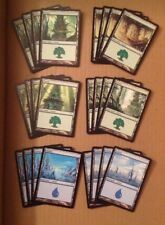 Magic the Gathering lot of 80 Mirrodin basic lands 4 of each art