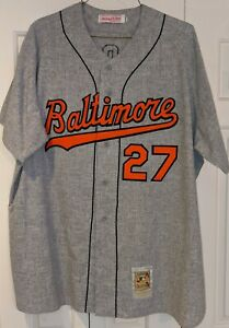 2000 Buddy Groom game used Baltimore Orioles jersey - 1970 Gray Flannel TBC
