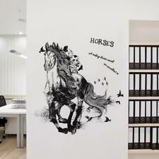 Running Horse Vinyl Wall Stickers Art Decal Removable Mural Room Home Decoration