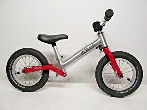 "Kokua ""LIKE a BIKE"" Jumper Kids Balance Bike Red Silver EXCELLENT CONDITION"