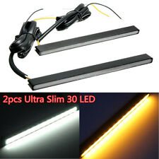 Dual Switchback 30LED White/Amber Lights LED Daytime Running Fog Lamps DRL Kits