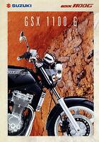 Suzuki GSX 1100 G 10/94 1994 Prospekt Motorradprospekt Motorrad Japan brochure