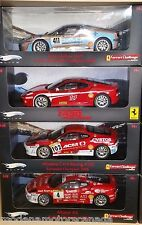 LOT OF 4 DIFFERENT FERRARI F430 CHALLENGE RACECARS 1:18 by HOT WHEELS ELITE
