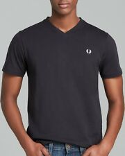 NWT Fred Perry Classic V-neck T-Shirt in Black XL