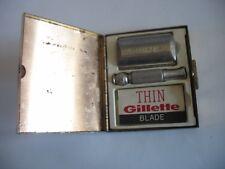 Vintage Razor in Case Silver Gillette in Gold metal sparkly box Ladies ?