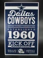 Dallas Cowboys Holzschild 43 cm NFL Football,Established Wood Sign