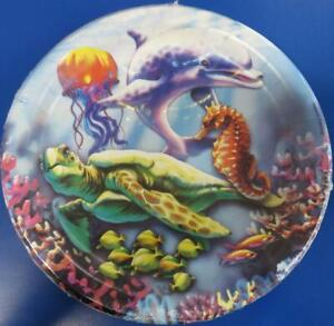 "Dolphins Sea Life Ocean Animal Summer Luau Beach Party 9"" Paper Dinner Plates"