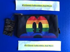 Loungefly Micky Mouse Zip Pouch, Rainbow Print, Cosmetic/Coin Bag, Disney New!