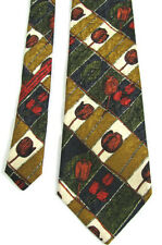 NWT Vtg Ermenegildo Zegna Red Tullip Silk Neck Tie Neiman Marcus Floral Print