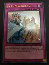 YUGIOH SOLEMN WARNING ULTRA RARE NEAR MINT DUSA-EN085