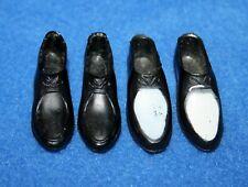 Vintage Barbie  000005E0 Ken Black - White Dress Shoes & Black Dress Shoes ( 2 Pairs )
