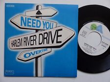 HARLEM RIVER DRIVE Need you / Overtime 2C010 96929 RRR