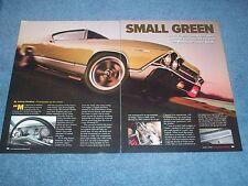 """1969 Chevelle Malibu Hardtop Article """"Small Green"""""""