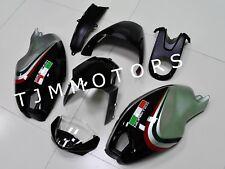 For Ducati Monster 696 796 1100 ABS Injection Mold Bodywork Fairing Black Silver
