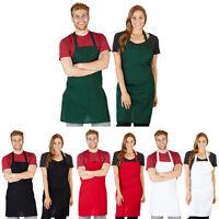 Apron Commercial Restaurant Home Bib Spun Poly Cotton Kitchen Aprons