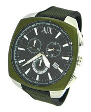 NEW ARMANI EXCHANGE CHRONOGRAPH SILICONE STRAP DATE 50M MENS WATCH AX1171