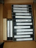 Lot Of 14 Pre-Recorded Mixed Label VHS Tapes Sold As Used Blank T-120 (J0 00M)
