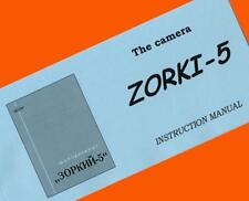ENGLISH MANUAL for ZORKI-5 35mm RF camera USSR Leica copy INSTRUCTION BOOKLET