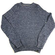 Weatherproof Vintage Men's Chunky Knit Sweater Vintage Colors Blue Size Large