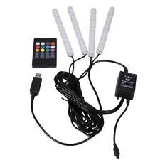4 en 1 Coche Luces LED Interior USB Ambiente tira encendedor Control Remoto