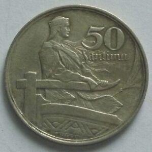 1922 LATVIA TYPE COIN SET - 2, 5, 50 SANTIMU - HIGH GRADE - KM# 2, 3, 6 - RARE
