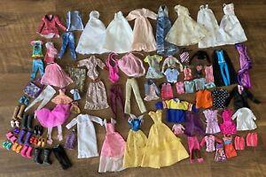 HUGE Lot Of Vintage Barbie/ Doll Clothes & Shoes 80+ Pieces 60s, 80s, 90s & More