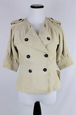 NWT Converse x John Varvatos Stone Gray Tan Suede Leather Cropped Peacoat XS