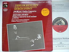 MENUHIN PLAYS DVORAK & MENDELSSOHN VIOLIN CONCERTO ENESCO EMI 749 395