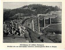 1915 * Eisenbahnzug mit russischen Gefangenen * Österreichische Pioniere *  WW1