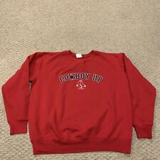 Boston Red Sox Cowboy Up 2003 Crewneck Sweatshirt MLB Baseball Mens Large