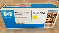 Brand New GENUINE HP 309A Yellow Toner Cartridge (HP Q2672A) - 1155