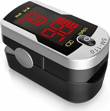 Santa Deluxe Sm 110 Two Way Display Finger Pulse Oximeter With Carry Case And Ne